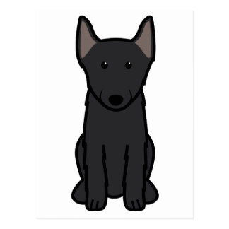 スキッパーキ犬の漫画 ポストカード