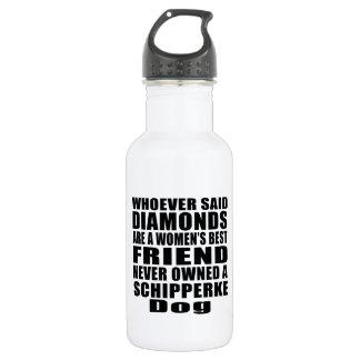 スキッパーキ犬の親友のデザイン ウォーターボトル