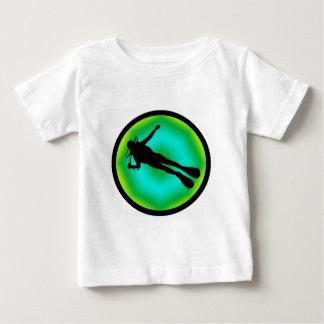 スキューバエメラルド ベビーTシャツ