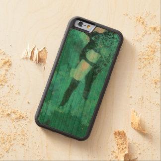 スキューバダイバーおよび泡 CarvedチェリーiPhone 6バンパーケース