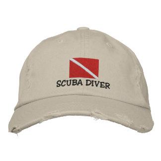スキューバダイバーの刺繍された帽子 刺繍入りキャップ
