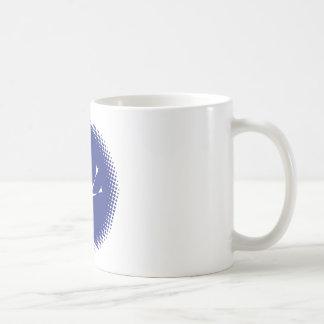 スキューバダイバーの明暗中間部の円 コーヒーマグカップ