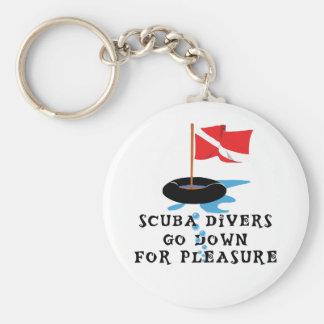 スキューバダイバーは喜びのためにダウン状態になります キーホルダー