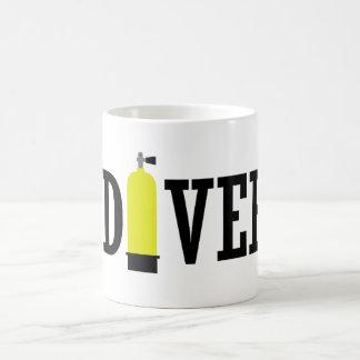 スキューバダイバータンク コーヒーマグカップ