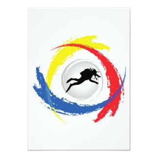 スキューバダイビングの三色の紋章 カード