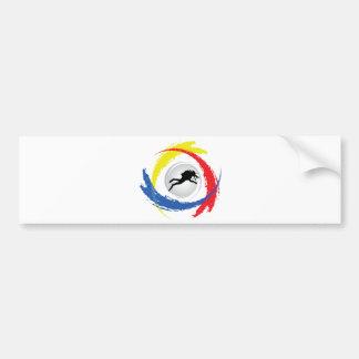 スキューバダイビングの三色の紋章 バンパーステッカー