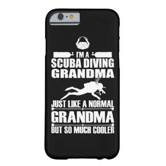 スキューバダイビングの祖母のiPhone6ケースの暗闇 Barely There iPhone 6 ケース