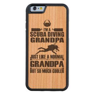スキューバダイビングの祖母のiPhone6ケース木 CarvedチェリーiPhone 6バンパーケース