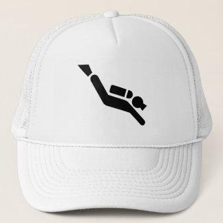 スキューバダイビングの記号の帽子 キャップ