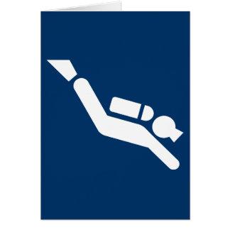 スキューバダイビングの記号カード カード