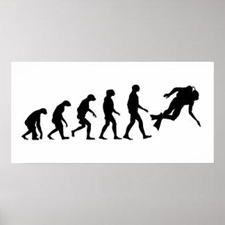 スキューバダイビングの進化 ポスター