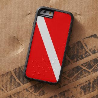 スキューバダイビングの飛び込みの旗 TOUGH XTREME iPhone 6 ケース