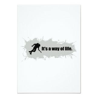 スキューバダイビングは生き方です カード