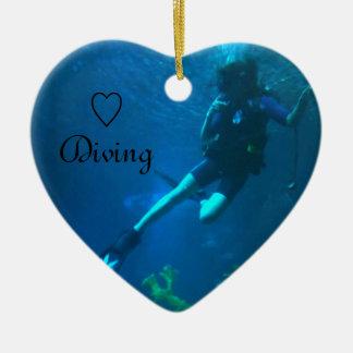 スキューバダイビング-潜る生命 セラミックオーナメント