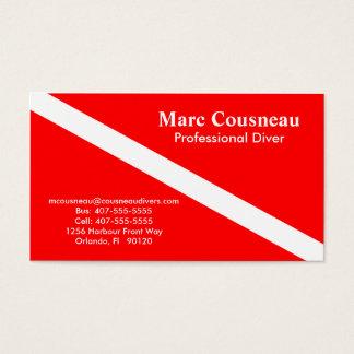 スキューバビジネス-個人的なカード 名刺