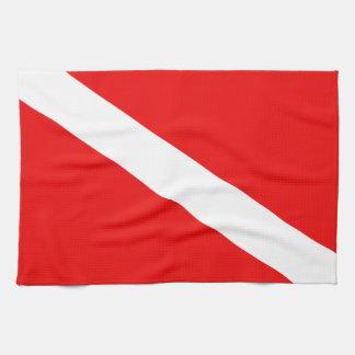 スキューバ旗 キッチンタオル