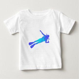 スキューバ海岸の飛び込み ベビーTシャツ