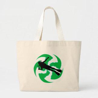 スキューバ緑の島 ラージトートバッグ