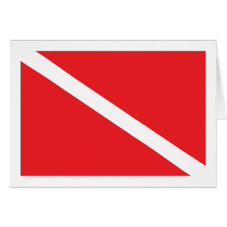 スキューバ飛び込みの旗 カード