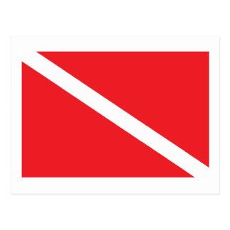 スキューバ飛び込みの旗 ポストカード