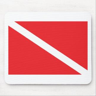 スキューバ飛び込みの旗 マウスパッド