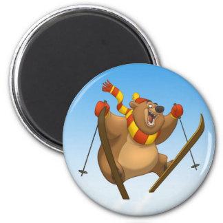 スキーくまの磁石 マグネット