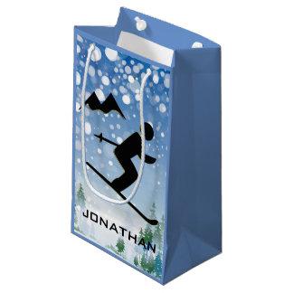 スキーのデザインのギフトバッグ スモールペーパーバッグ