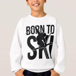 スキーをするために04 FREESTYLE.png生まれて下さい スウェットシャツ