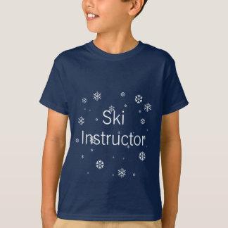 スキーインストラクターの雪片 Tシャツ