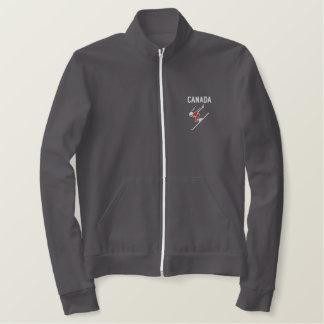 スキーカナダのカスタムで名前入りなスポーツ 刺繍入りジャケット