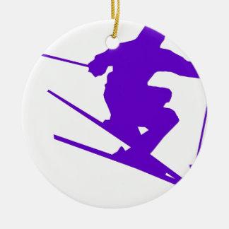 スキースポーツのデザイン セラミックオーナメント