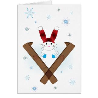 スキーバニー カード