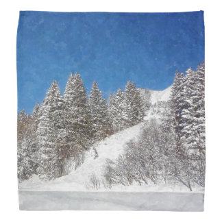 スキーバンダナ-冬の雪 バンダナ