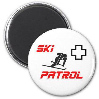 """スキーパトロール- """"スキーヤー"""" マグネット"""