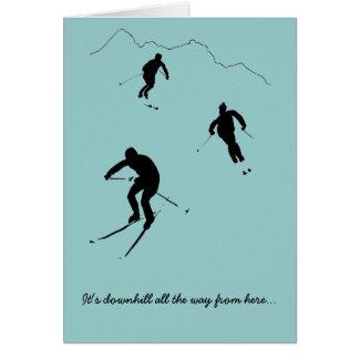 スキーヤーのためのカード カード