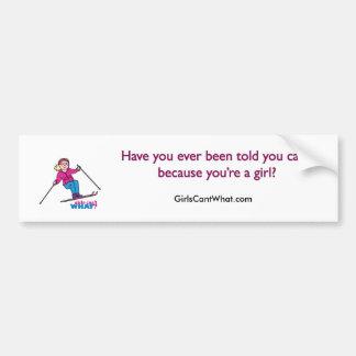 スキーヤーの女の子 バンパーステッカー