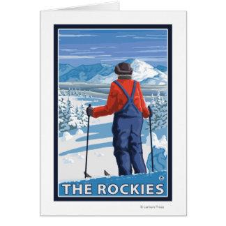 スキーヤーの賞賛-ロッキー山脈 カード