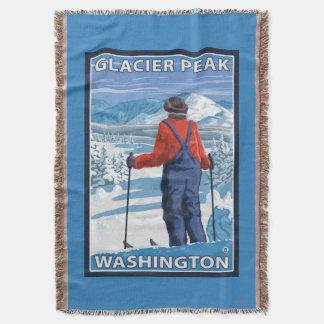 スキーヤーの賞賛-氷河ピーク、ワシントン州 スローブランケット
