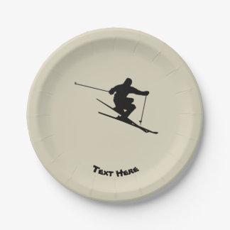 スキーヤー ペーパープレート