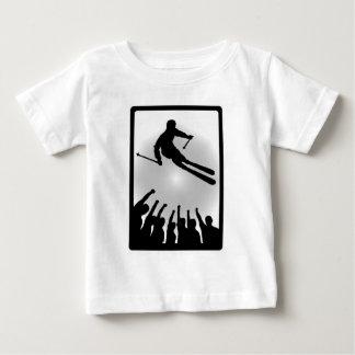 スキー冬の組合せ ベビーTシャツ
