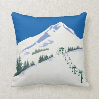 スキー冬場面枕 クッション