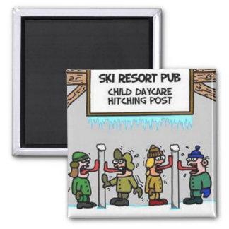 スキー場の子供の託児所 マグネット