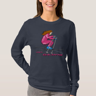 スキー女性 Tシャツ