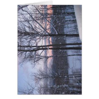 スキー日の日の出 カード