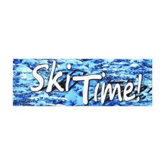スキー時間 キャンバスプリント