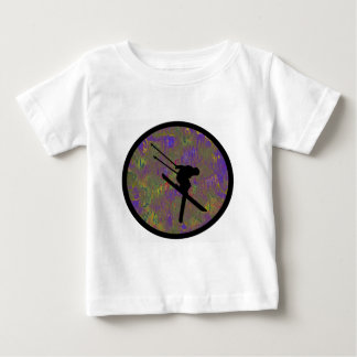 スキー木の操業 ベビーTシャツ
