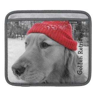 スキー犬のゴールデン・リトリーバーのipadの袖 iPadスリーブ