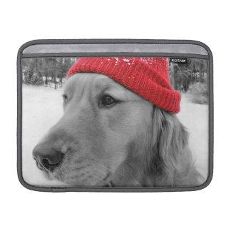 スキー犬のゴールデン・リトリーバーのMacBookの空気袖 MacBook スリーブ