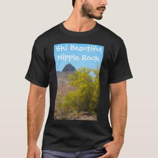 スキー美しいニップルの石 Tシャツ