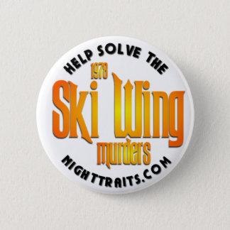スキー翼ボタン 5.7CM 丸型バッジ